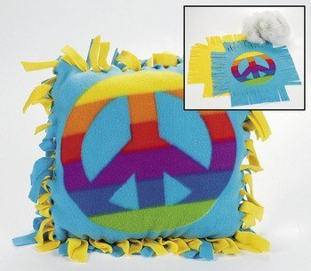 Fleece Peace Sign Tied Pillow Craft Kit - Crafts for Kids & Novelty Crafts ()