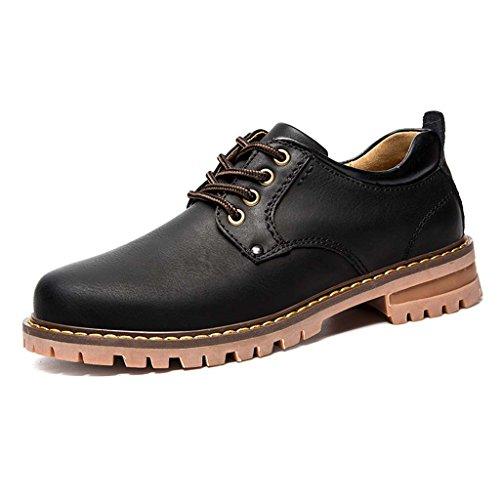 ZXCV Zapatos al aire libre Zapatos de cuero de los hombres resorte y zapatos ocasionales del negocio del otoño Negro