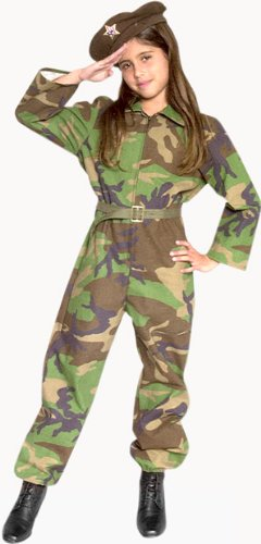 Child's Army Girl Soldier Costume (Size:Large 10-12)