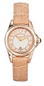 Saint Honore Women's 741030 8YBBR Coloseo Rose Gold PVD Mother-Of-Pearl Leather Watch