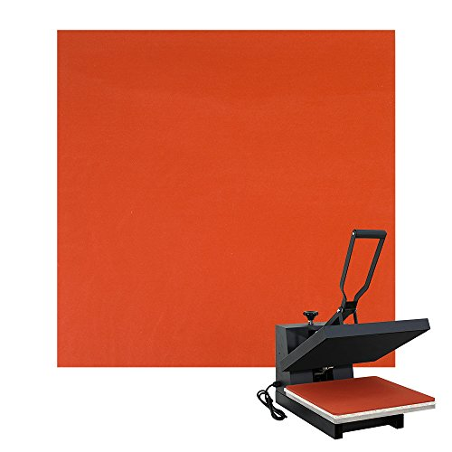 Poever 15'' ×15'' Red Silicone Pad Flat Heat Press Replacement by Poever