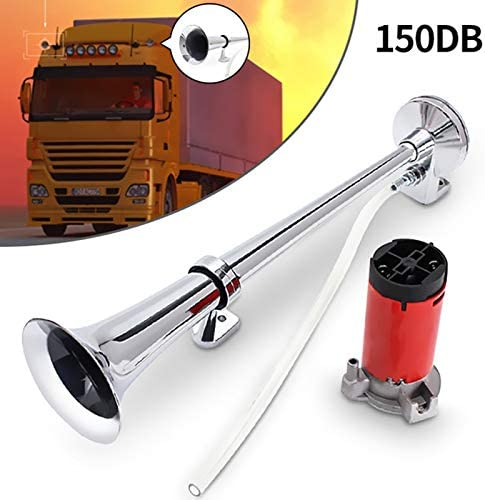 TOOGOO 150db 12V Single Trumpet Car Air Horn Super Loud with Compressor for Auto Truck Lorry Boat Train Horn