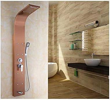 Cabeza de Ducha Juego de ducha inteligente de 5 modos de mampara de ducha de acero inoxidable para el hogar, color rosa: Amazon.es: Bricolaje y herramientas