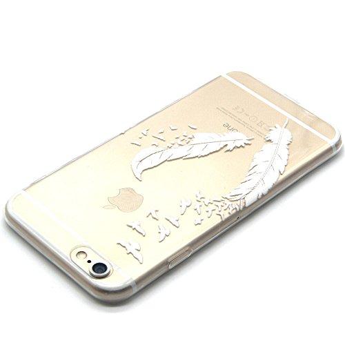 Ecoway copertura / coperture / insiemi di telefono / shell protettivi apparecchi telefonici mobili chiari e trasparenti Custodia TPU silicone Crystal per Apple iPhone 6 plus/6s Plus 5.5, case cover pr