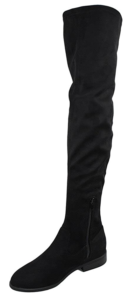 City Classified Women Over Knee Thigh High Flat Basic Simple Boots Side Zipper Jingo-S