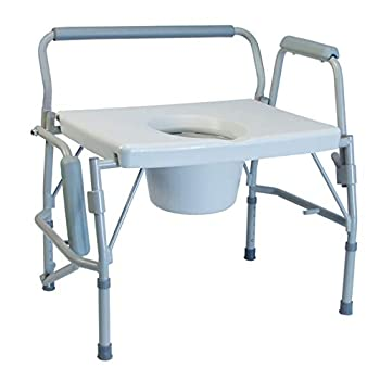 Image of Health and Household Lumex 6438A Imperial Collection 3-in-1 Steel Drop Arm Commode, 600 lb. Weight Capacity