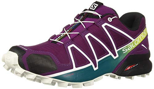 para Deep de 4 Running Speedcross Zapatillas Mujer 000 Dark Salomon Trail Lake White Morado Purple W qI0wS5O