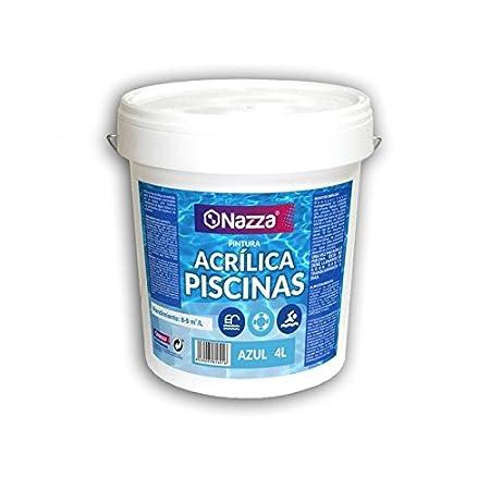 Pintura para Piscina Azul Acrí lica Nazza | Pintura apta para permanecer sumergida en agua | 4 Litros