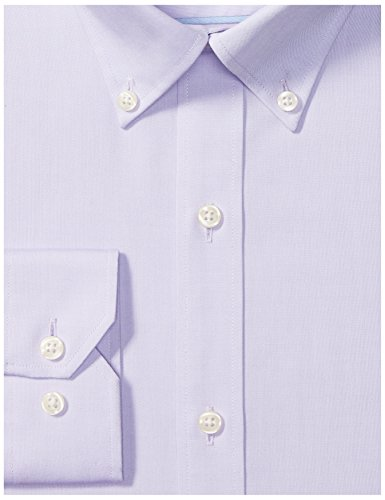 Buttoned Down Men's Tailored Fit Button-Collar Solid Non-Iron Dress Shirt (No Pocket), Purple, 16.5'' Neck 35'' Sleeve by Buttoned Down (Image #6)