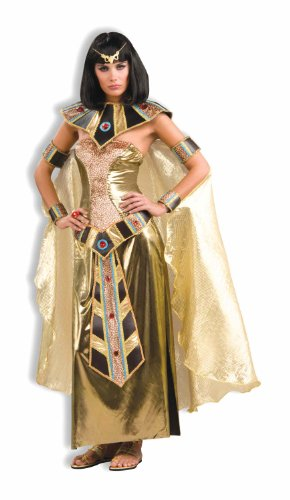 Woman's Egyptian Goddess Costume, Gold, One -