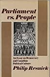 img - for Parliament vs. people: An essay on democracy and Canadian political culture book / textbook / text book