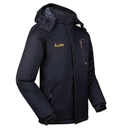 Softshell Cappuccio Trekking Sci Giacche All'aperto Sportivi Con Da Campeggio Jacket Outdoor Uomo Ciclismo Per Impermeabile A Nero Vento Giacca Lorata OFXzZYz