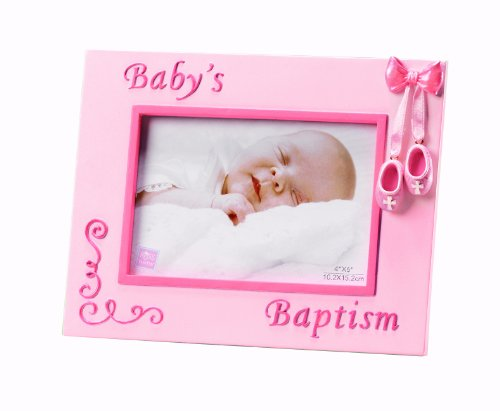 amazoncom russ berrie small blessings babys baptism photo frame blue discontinued by manufacturer baby keepsake frames baby