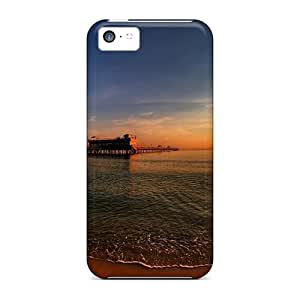 fenglinlinKXM12012oLCs Phone Cases With Fashionable Look For ipod touch 4 - Amazing Sunrise On Ocean Pier