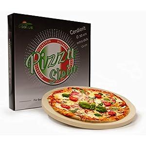 osoltus - Pietra per pizza professionale, rotonda, 30 cm x 1,5 cm, per pizza croccante