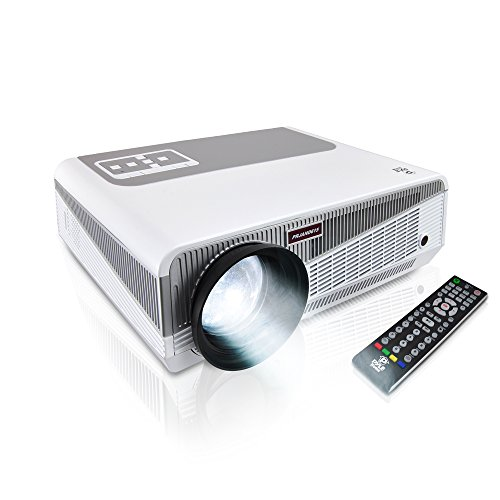 Full HD 1080p Hi-Res Mini Portable Smart Video Cinema Home Theater Projector - Built-In Dual Core Android Computer, WiFi Wireless Multimedia, LCD+LED, HDMI & USB Inputs for Blu Ray PC Laptop & TV by Pyle