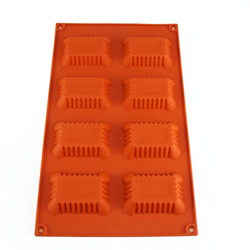 Mirenlife 8-Cavity Rectangle Shape Non Stick Silicone Mold For Making Cake, Cookie, Chocolate, Pastry, Candies, Ice Cube, Soap, Candle and More