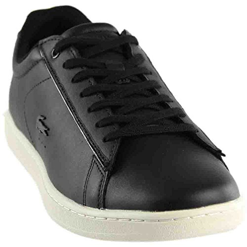 Womens Shoes Flat Lacoste (Lacoste Women's Carnaby Sneaker, Black, 6 M US)