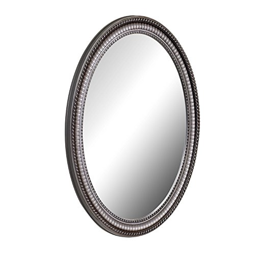 American Pride 9530PEW Pewter 9530PEW-Middleton Decorative Framed Oval Mirror 25