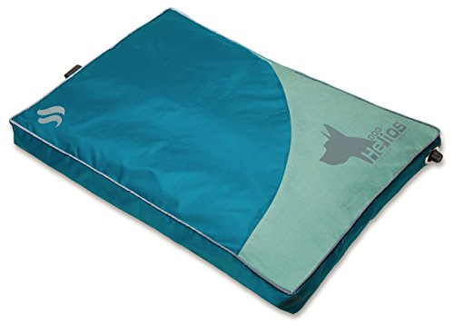 DOGHELIOS 'Aero-Inflatable' Folding Outdoor Camping Sporty Fashion Travel Waterproof Inflatable Pet Dog Bed Mat Lounge, Medium, Blue ()