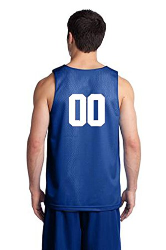 Custom Basketball Reversible Jersey Both Sides - Numbers Only On Back of Both Sides