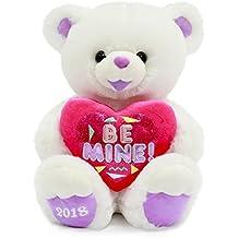 "Valentines Day Gift Plush Teddy Bear 2018 White ""BE MINE"""