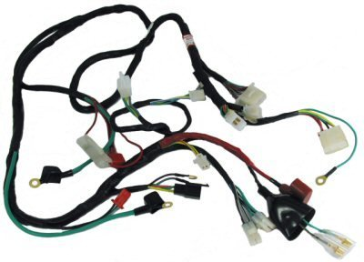 41wWytfolBL amazon com gy6 scooter wire harness sports scooter parts 150Cc GY6 Engine Wiring Harness Diagram Detailed at gsmx.co
