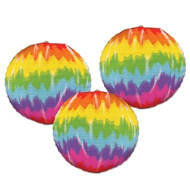 Beistle 54564 Tie-Dyed Paper Lanterns, 91/2-Inch