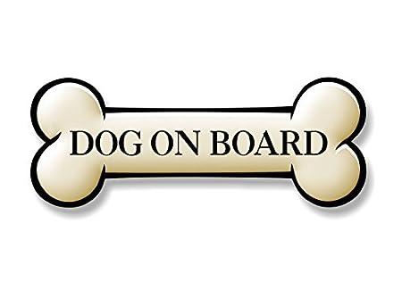 Dog ON Board 9' Dog Bone Decal Puppy Vinyl Stickers for Car Truck Vehicle Window Or Bumper (Bone (Dog On Board)) Street Legal Decals