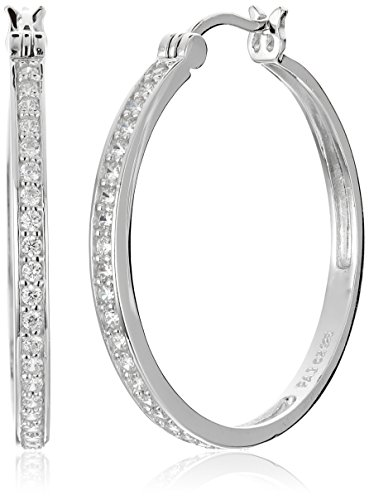 Sterling Zirconia Channel Earrings Diameter