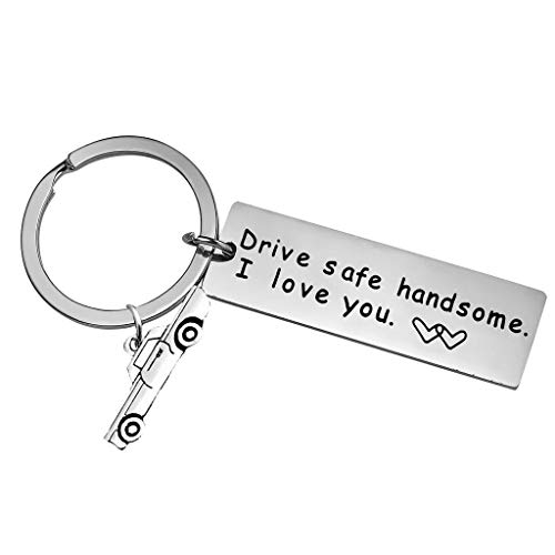 NATFUR Drive Safe Keychain Personalized Key Rings Dad Husband Elegant Key-Chain Cute Perfect for Gift Elegant Pretty Beautiful Fine | Color - -