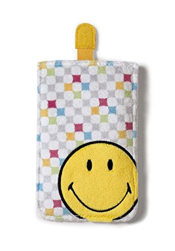Nici 38177 - Happy caja del teléfono Smiley Collection, felpa, allover, 10 x 15 cm