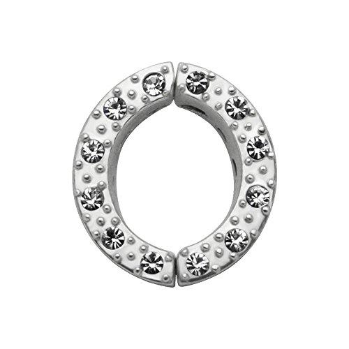 Nicht Piercing Silber Nipple Clamp - Schwarz Edel
