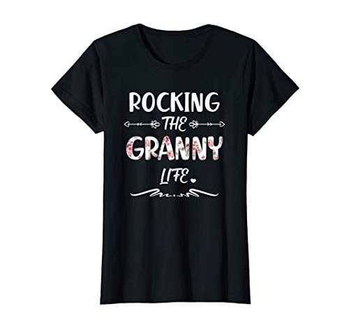Womens Womens Rocking the Granny life Tshirt Family Matching Gifts -