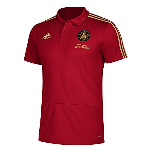 adidas MLS Atlanta United Men's Sideline Coaches Polo, Small, Victory (Coaches Sideline Polo)