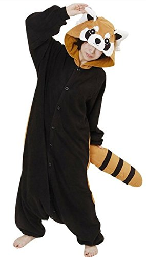Red Panda Costume (Rnmomo Unisex-adult Kigurumi Onesie Red Panda Pajamas (XL: 182 - 190cm (5.9' - 6.3') height),XL: 182 - 190cm (5.9' - 6.3') height)