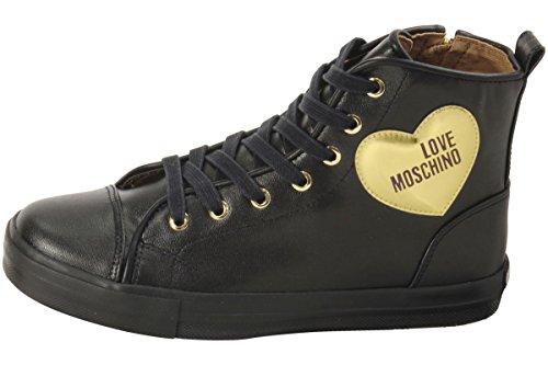 Ja15032g14ia200b Nero Cuore Love Inverno 2018 Power25 Moschino Noir Sneakers Pelle TwqapnO4