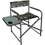 Mac Sports Camo Directors Chair With Table | Folds Flat For Easy Storage | Heavy-Duty 600 Denier Polyester Fabric