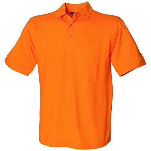 Henbury schwere Pique Polo Shirt H400orange XXXL