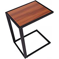 HomCom Modern Wooden Top End / Snack C Table - Black