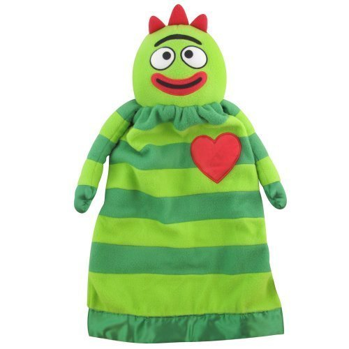 Yo Gabba Gabba Plush Brobee Lovie Security Blanket (Brobee-Green)