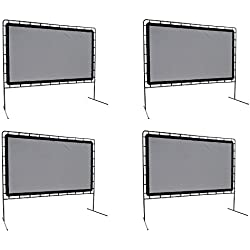 Camp Chef OS-144 Indoor or Outdoor Giant Movie Screen Movie Night, White (Pack of 4)