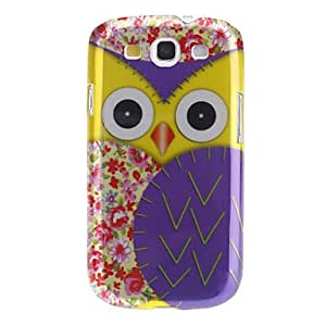 FJM Elegant Owl Pattern Hard Case for Samsung Galaxy S3 I9300