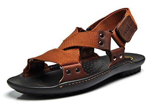 Uomo 40 Marrone Sandali Brown Scennek UwqT5an