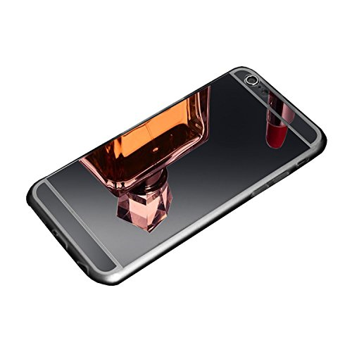 VSHOP ® Coque iphone 6 plus etui effet miroir argent luxe housse tpu silicone semi rigide
