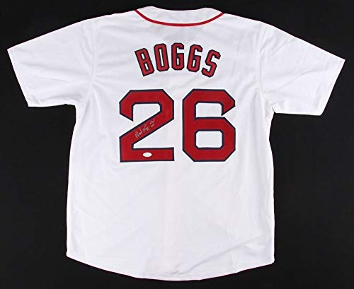 (Wade Boggs Autographed Signed Boston Red Sox Jersey (Size XL))