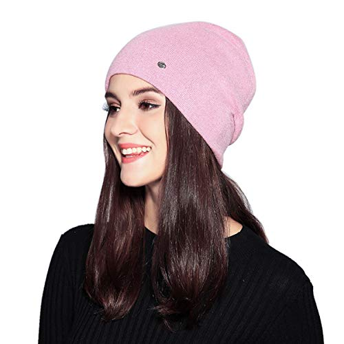 - MOOKZZ Winter Knit Beanie Women Slouchy Hat, Double Layer Thick Wool Fleece Skull Ski Cap