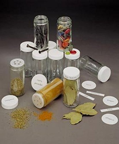 Spice Jar Round Glass with Shaker Top