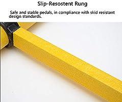 Escalera extensible Escalera telescópica Escalera telescópica de fibra de vidrio 2 M / 3 M - Escalera tipo loft para escalada para trabajo pesado en exteriores con protección para los dedos, no