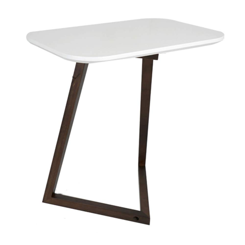 PENGFEI ノートパソコンスタンドベッドテーブルホーム ソファーサイドテーブル 棚 学習テーブル シンプルで (色 : 白) B07L8HM5DP 白